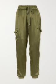 Cami NYC The Elsie silk-charmeuse track pants