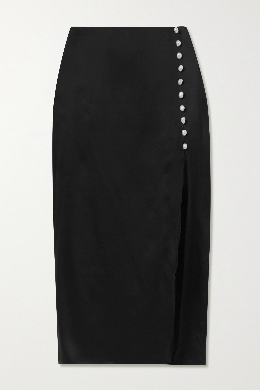 Cami NYC The Kalanni embellished silk-charmeuse midi skirt