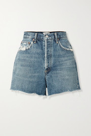 Dee Jeansshorts in Distressed-Optik