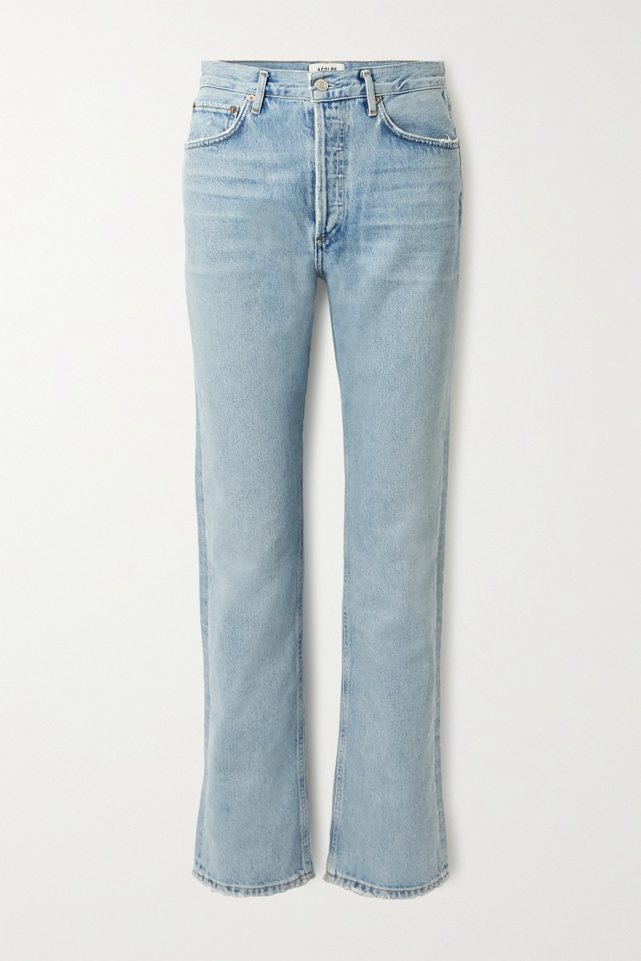 AGOLDE + NET SUSTAIN Lana distressed organic low-rise straight-leg jeans