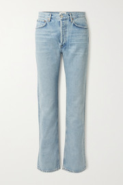 + NET SUSTAIN Lana tief sitzende Jeans mit geradem Bein aus Bio-Denim in Distressed-Optik