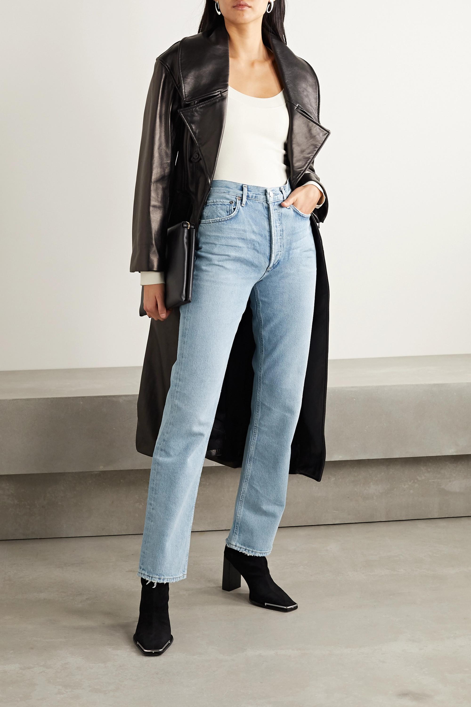 AGOLDE + NET SUSTAIN Lana distressed organic low-rise straight-leg jeans