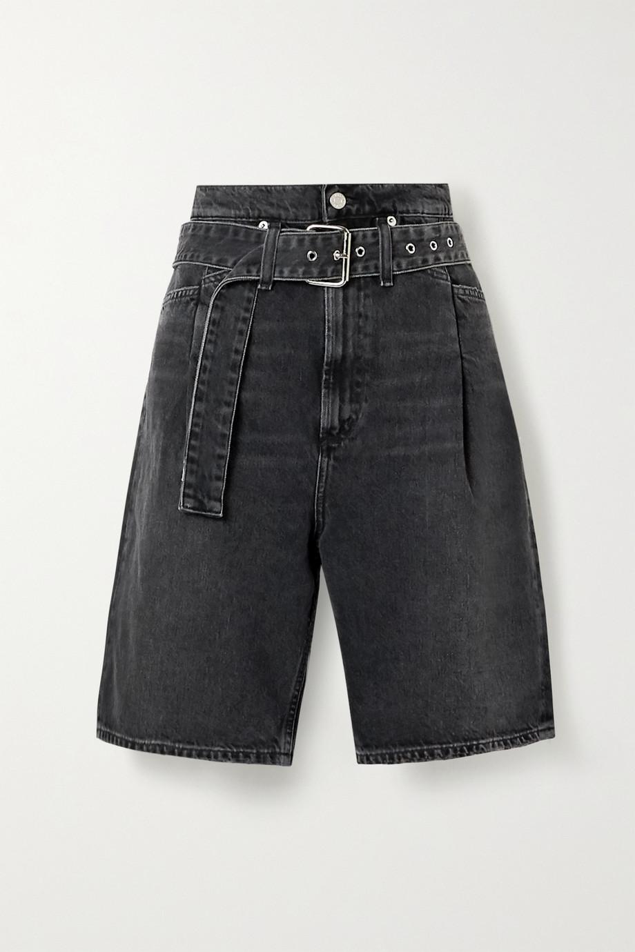 AGOLDE Reworked 90's belted denim shorts