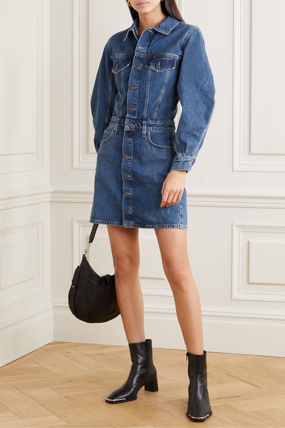 AGOLDE Denim mini dress