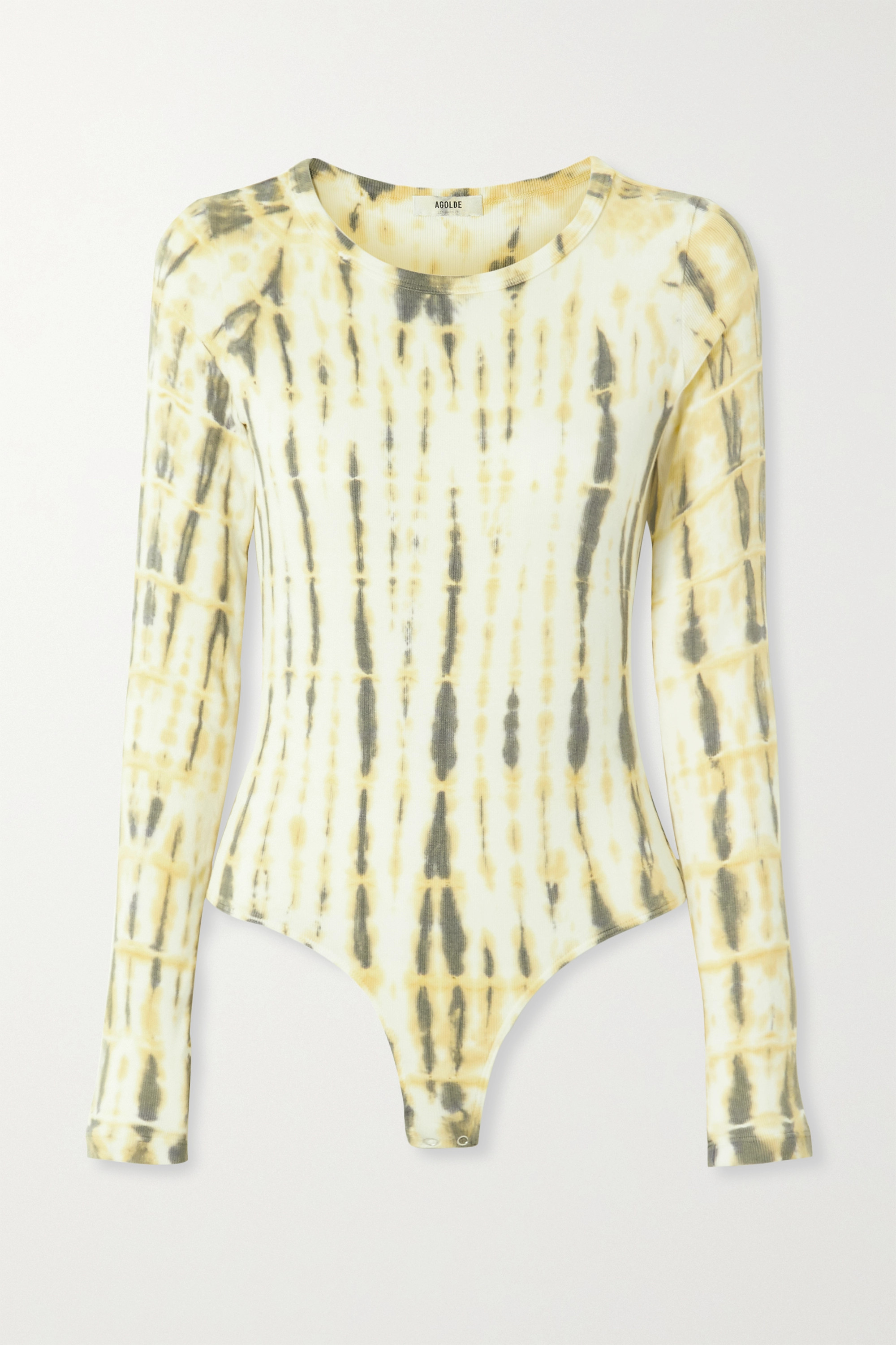AGOLDE Leila ribbed tie-dyed stretch-jersey bodysuit