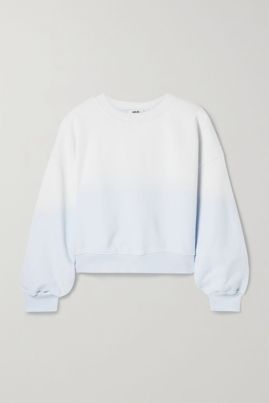 AGOLDE Ombré cotton-jersey sweatshirt