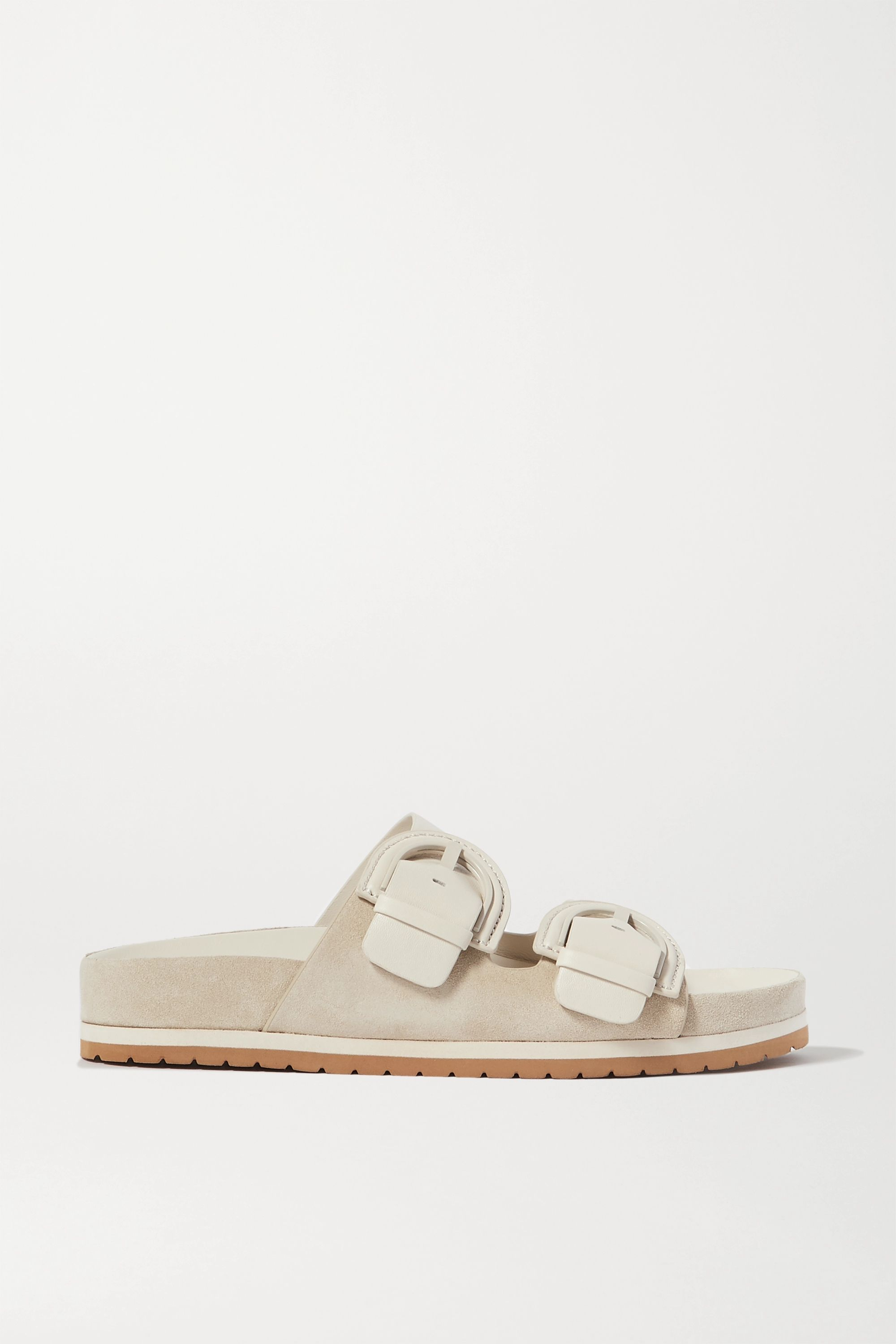Vince Glyn leather and suede slides