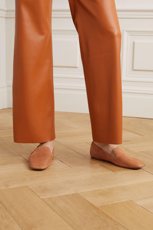Tan Clark suede loafers | Vince | NET-A