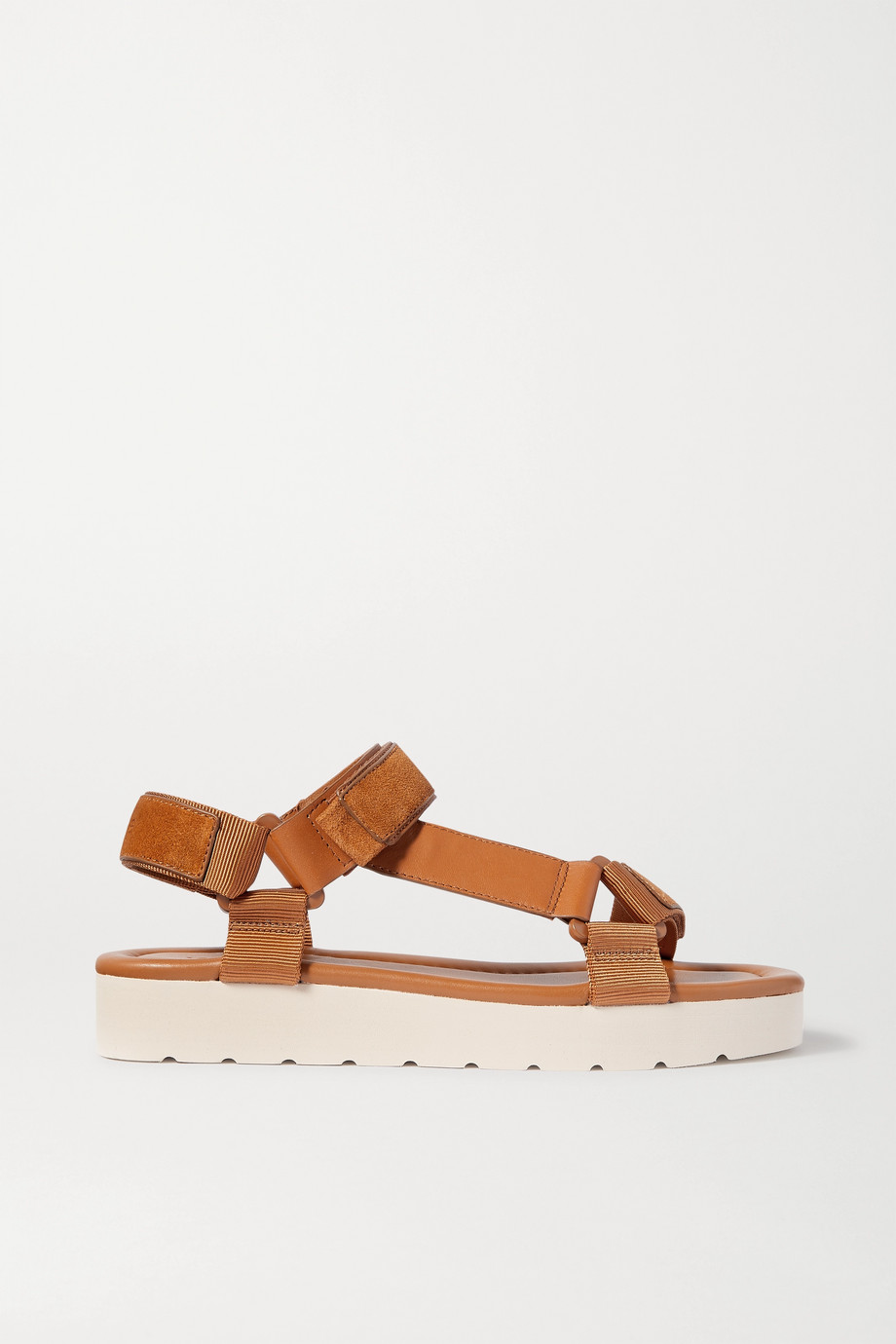 Vince Carver leather, suede and canvas sandals
