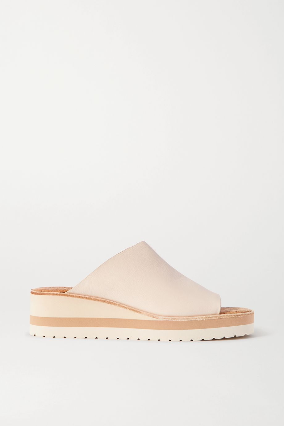 Vince Sarria leather wedge sandals