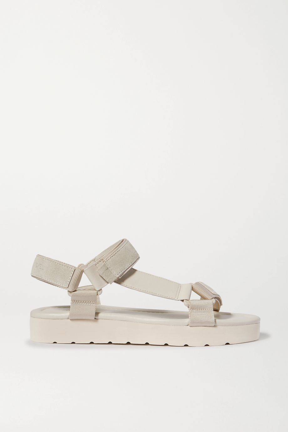 Vince Carver leather, suede and canvas platform sandals