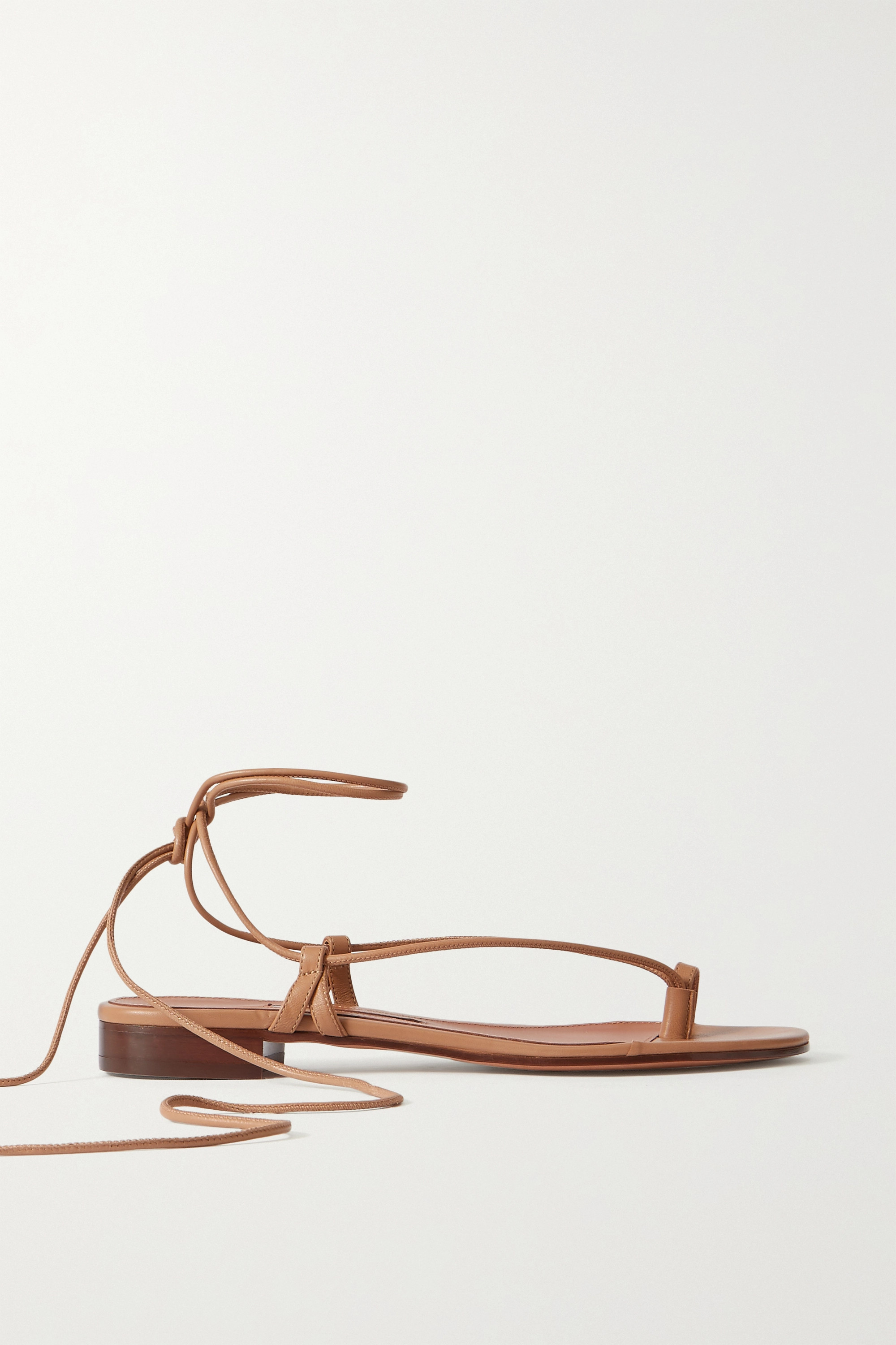 Beige Ava leather sandals | Emme Parsons | NET-A-PORTER