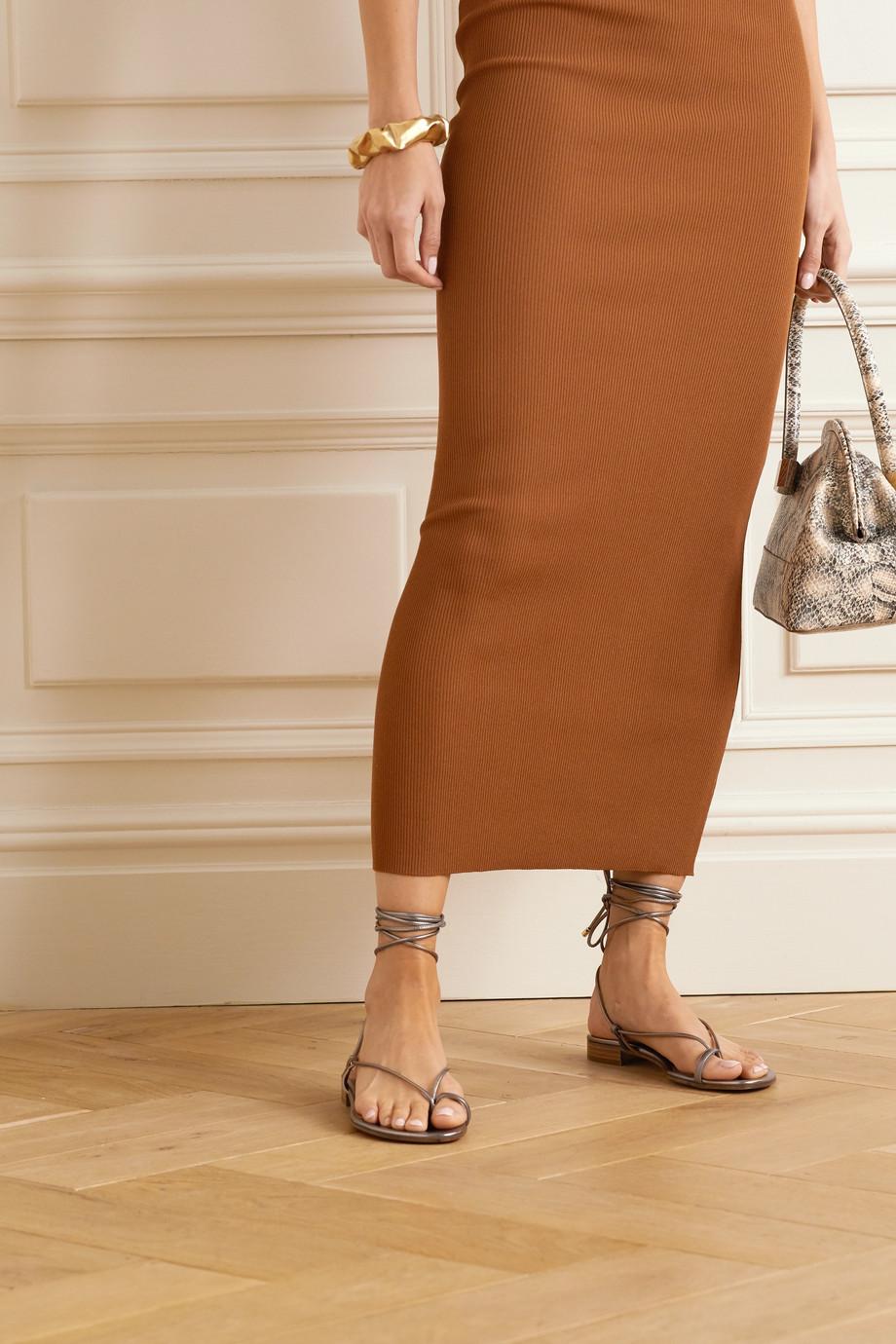 Emme Parsons Ava 金属感皮革凉鞋