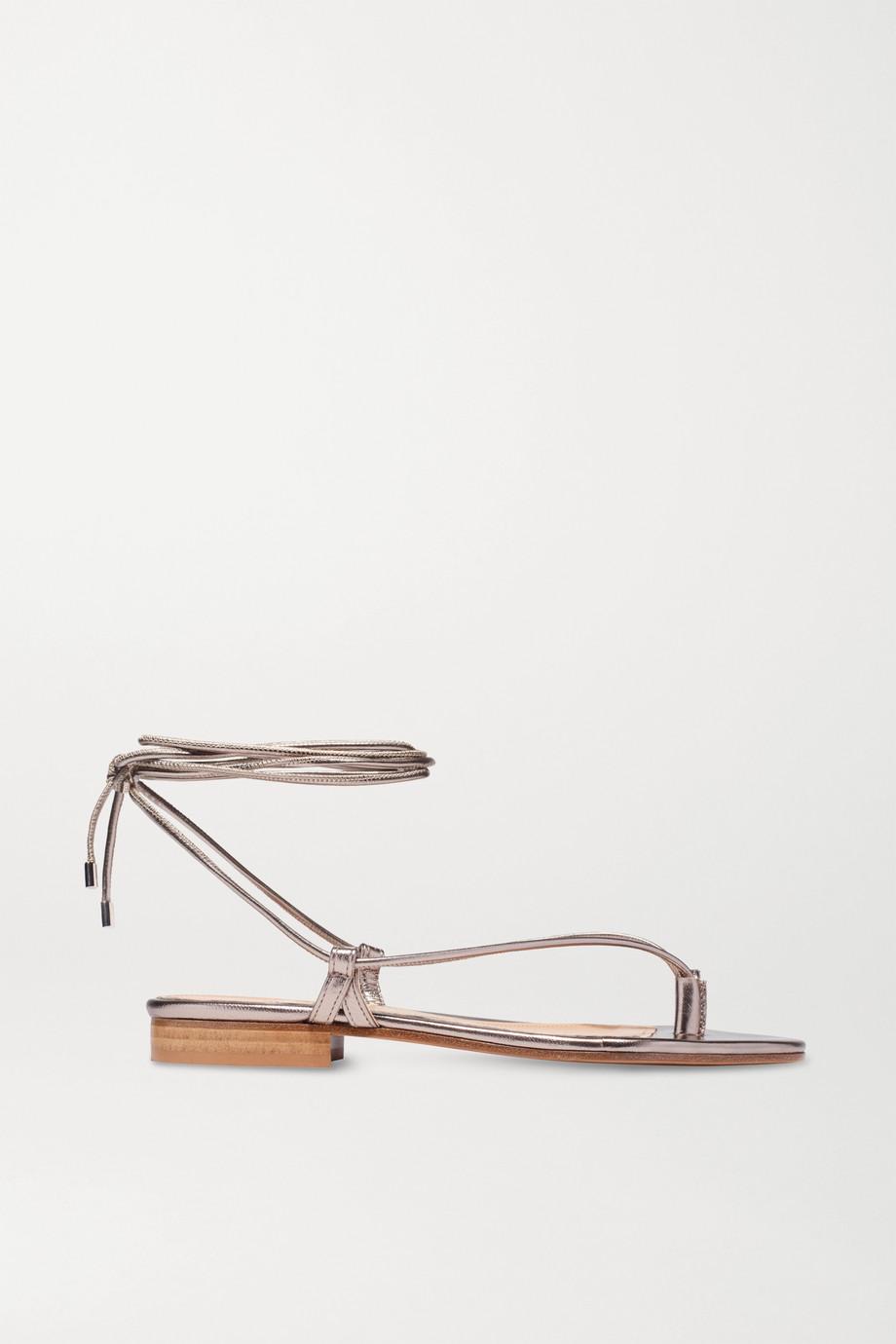 Emme Parsons Sandales en cuir métallisé Ava