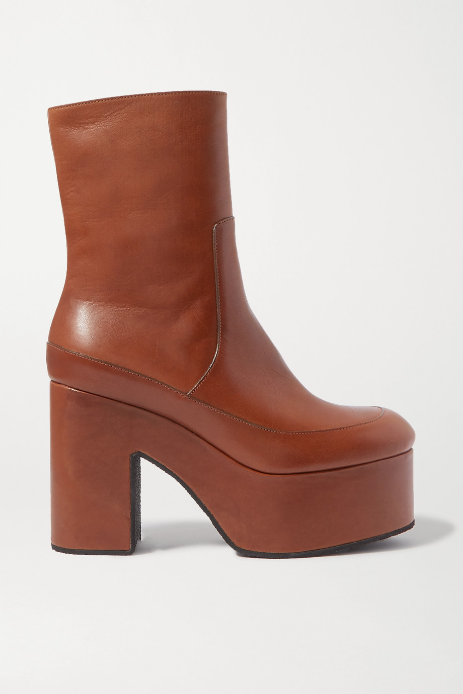 Dries Van Noten Leather platform ankle boots