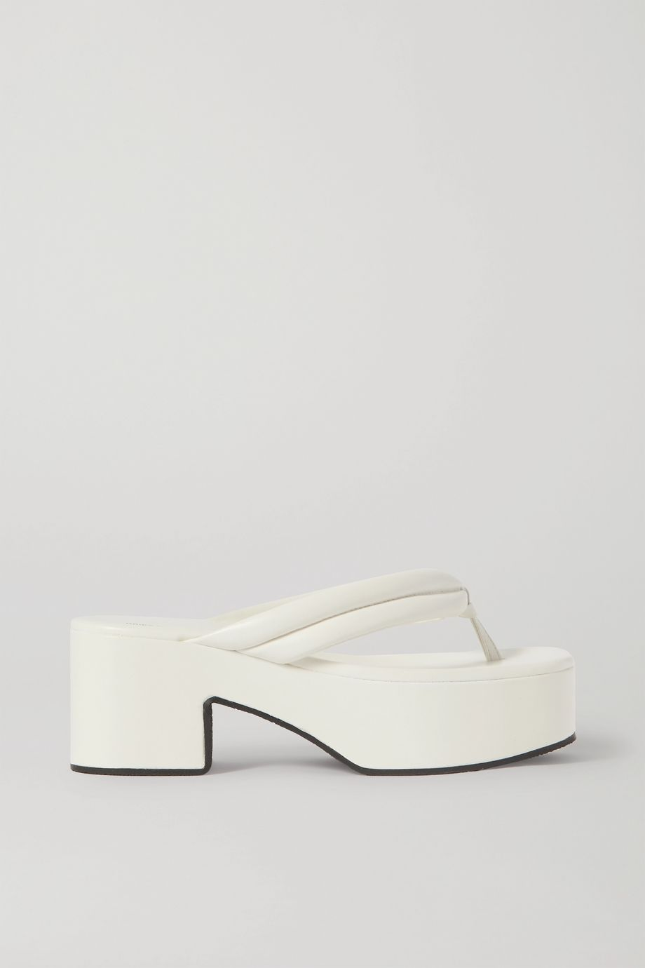 Dries Van Noten Leather platform flip flops