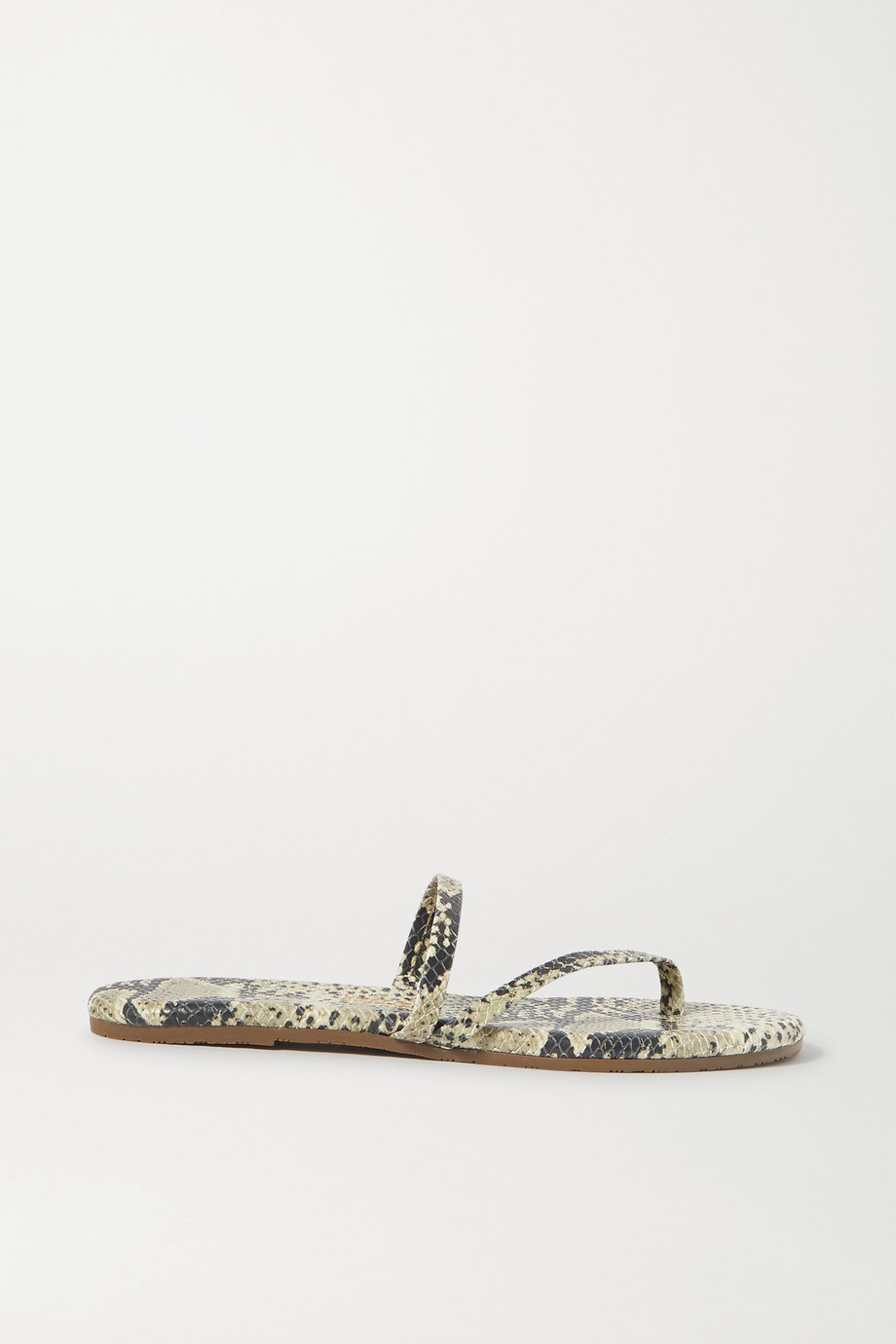 TKEES Sarit snake-effect leather sandals
