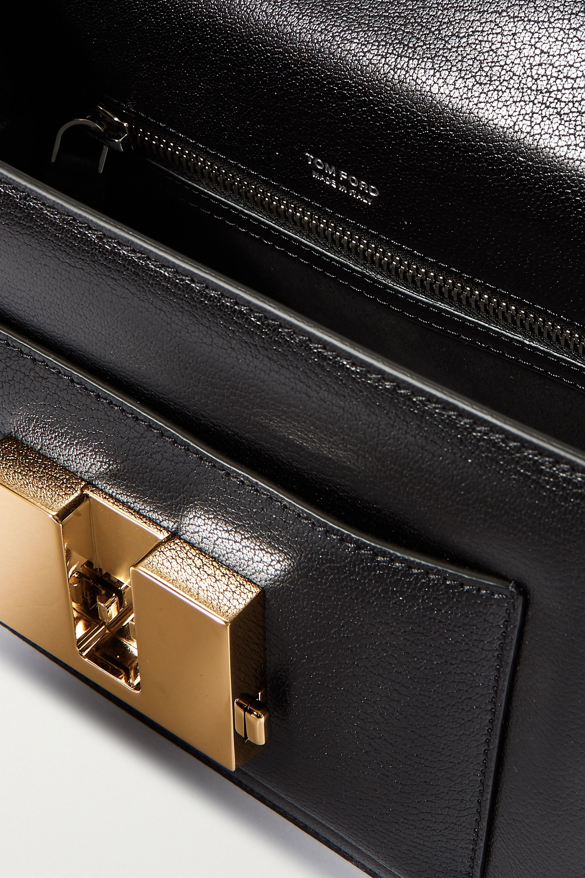 TOM FORD 001 small textured-leather tote