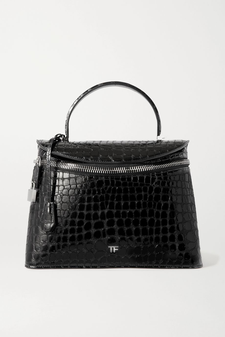 TOM FORD Metro medium croc-effect leather tote