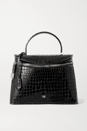 TOM FORD Metro medium croc-effect leather tote