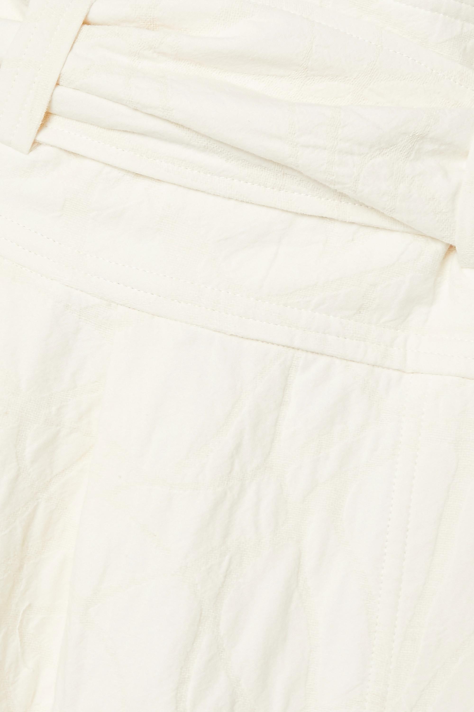 Mara Hoffman + NET SUSTAIN Esperanza belted organic cotton and linen-blend jacquard midi wrap skirt