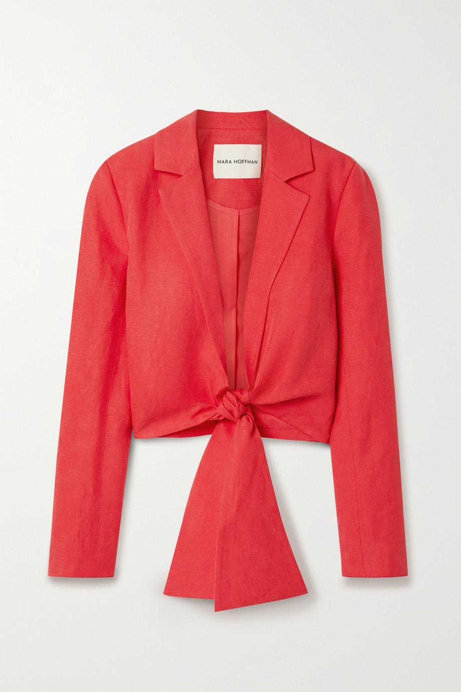 Mara Hoffman + NET SUSTAIN Catalina tie-front Tencel and linen-blend jacket