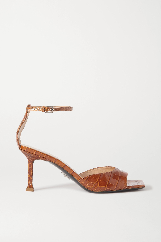 Paciotti Croc-effect leather sandals