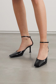 Paciotti Glossed-leather pumps