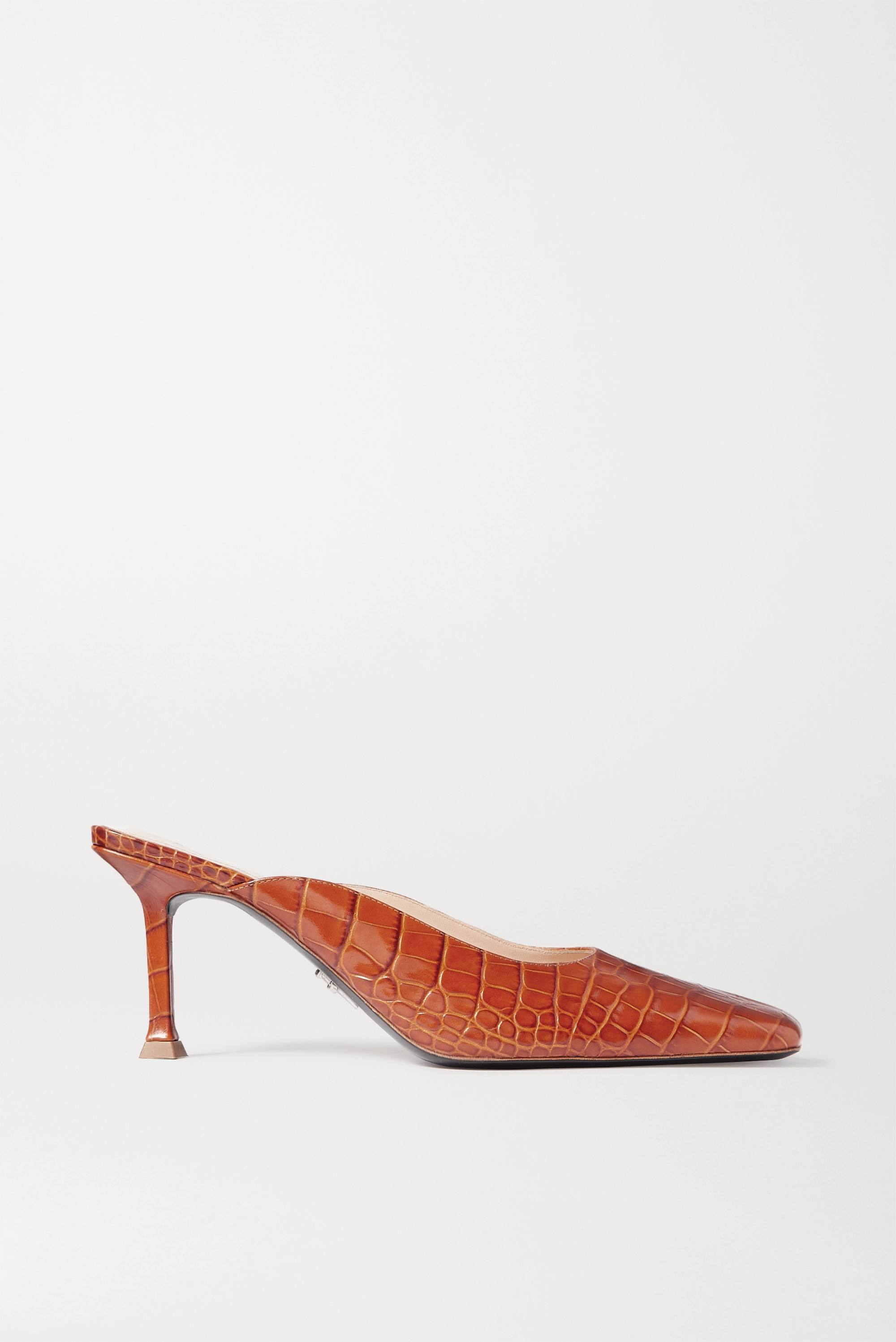 Paciotti Croc-effect leather mules