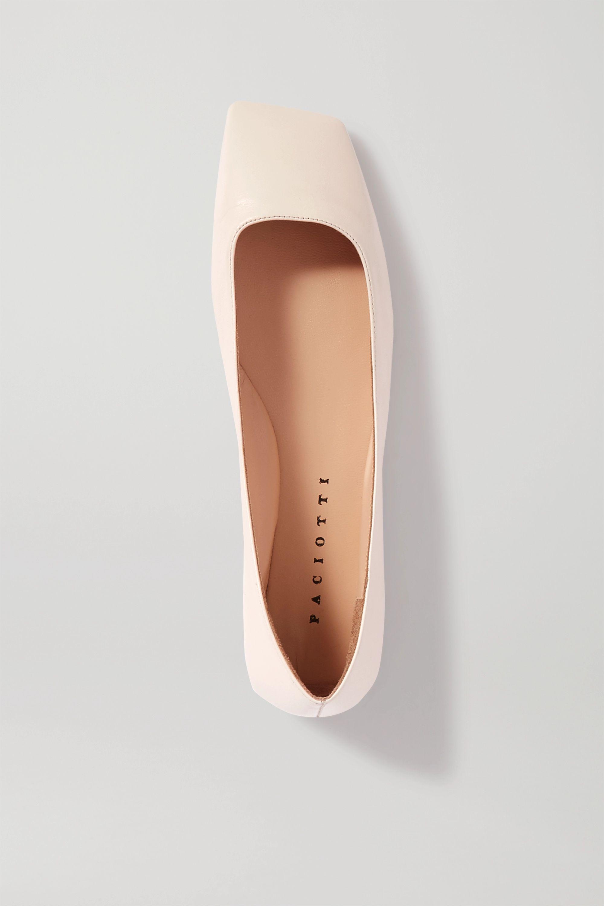 Paciotti Square-toe leather ballet flats