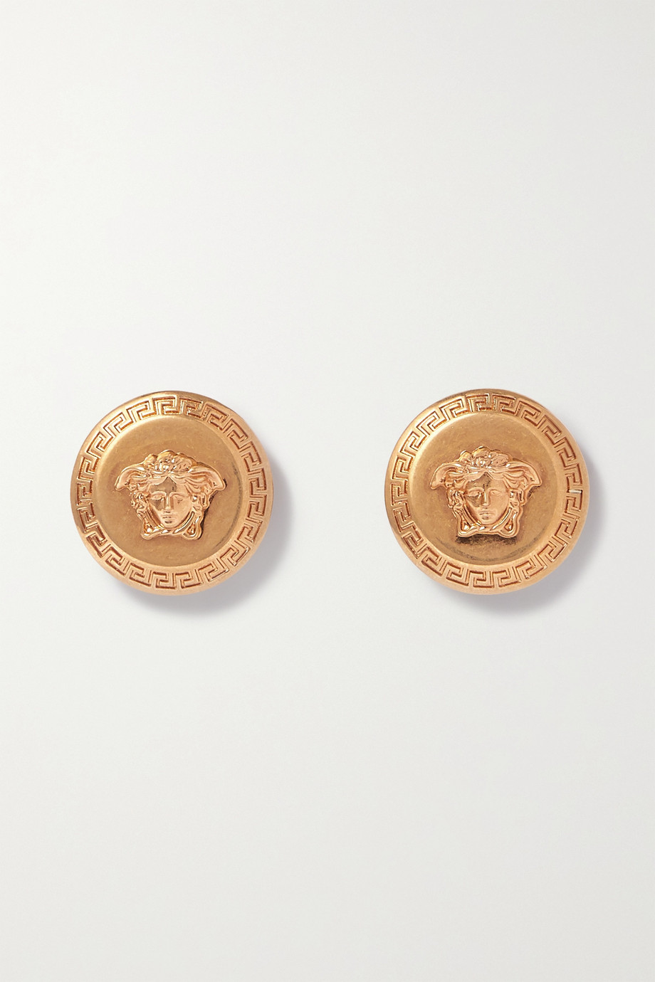 Versace Medusa gold-tone earrings