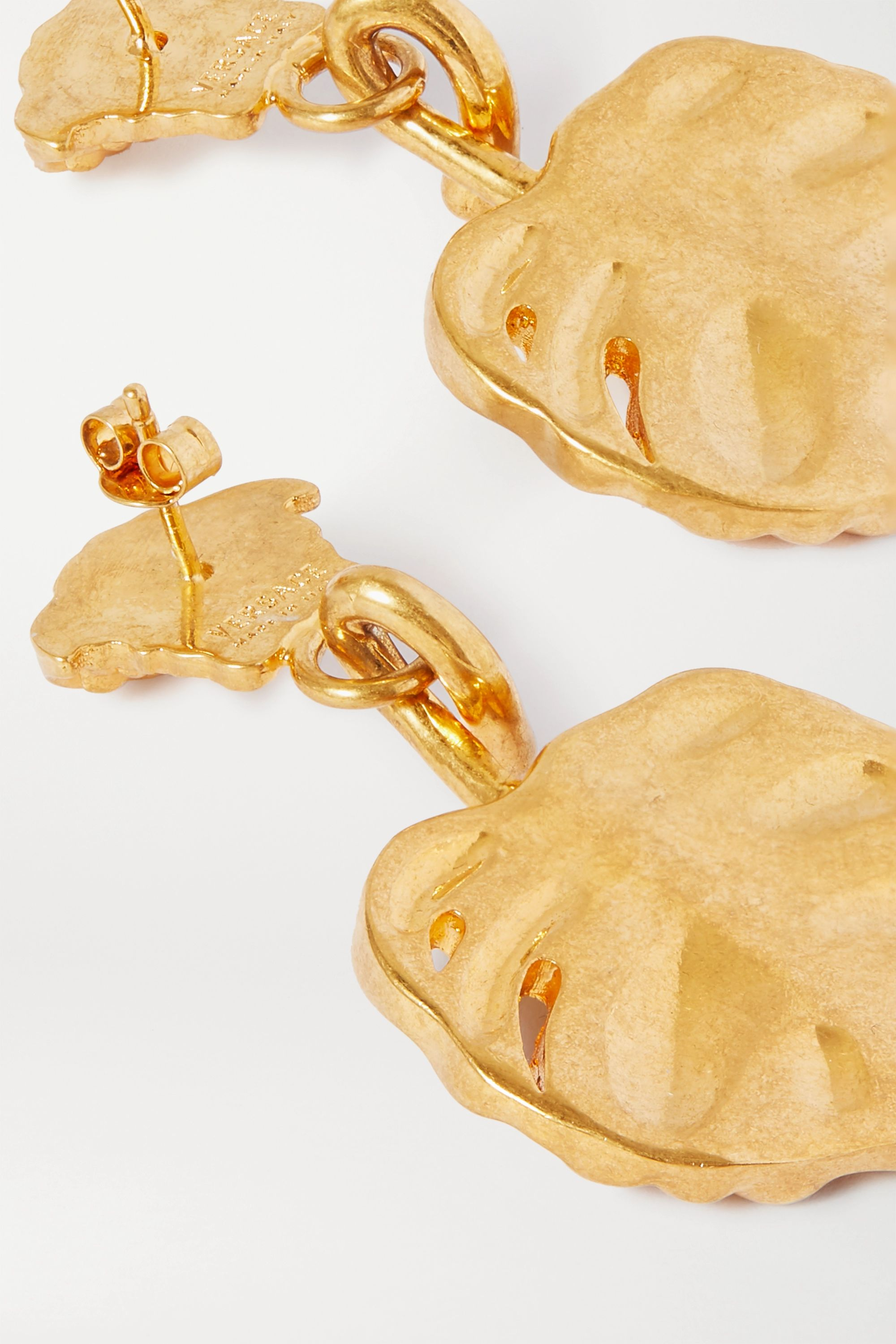 Versace Gold-tone and crystal earrings