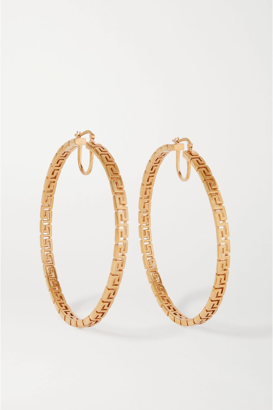 Versace Gold-tone hoop earrings