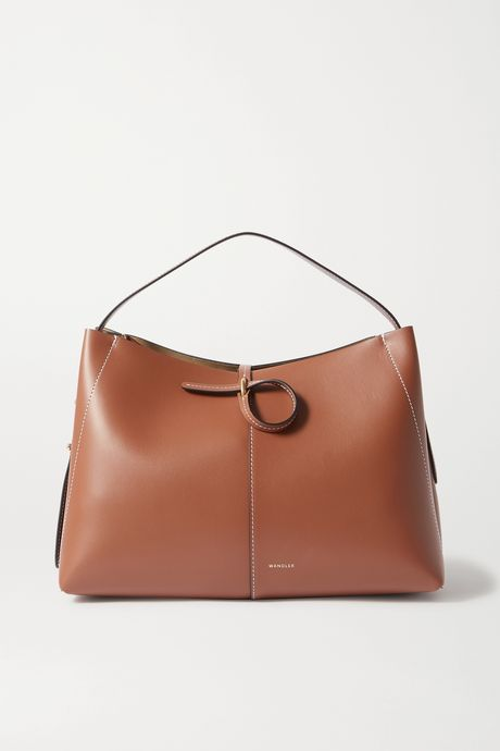 Tan Ava medium leather shoulder bag | Wandler 0TcLhv