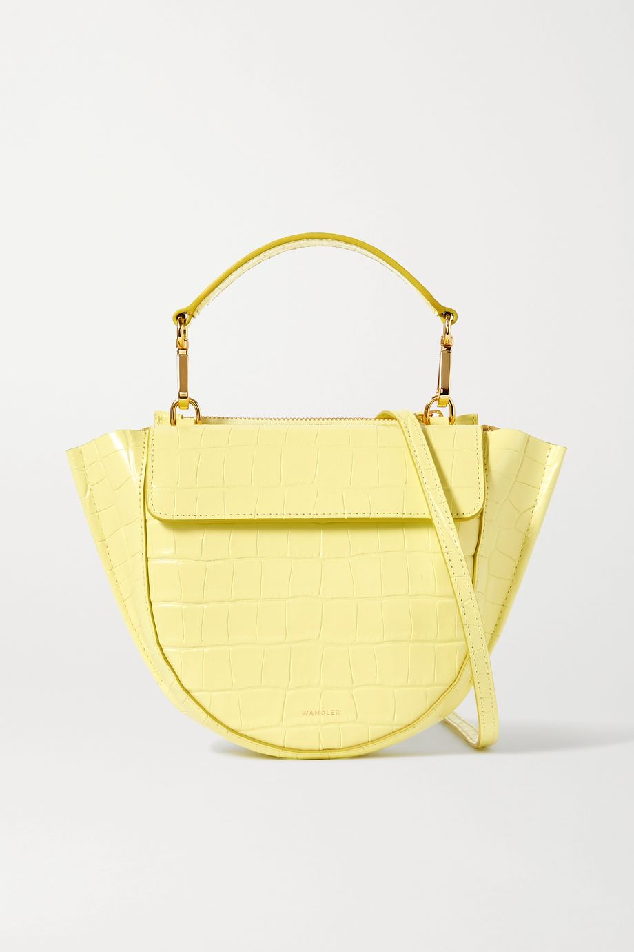 Wandler Hortensia mini croc-effect leather shoulder bag