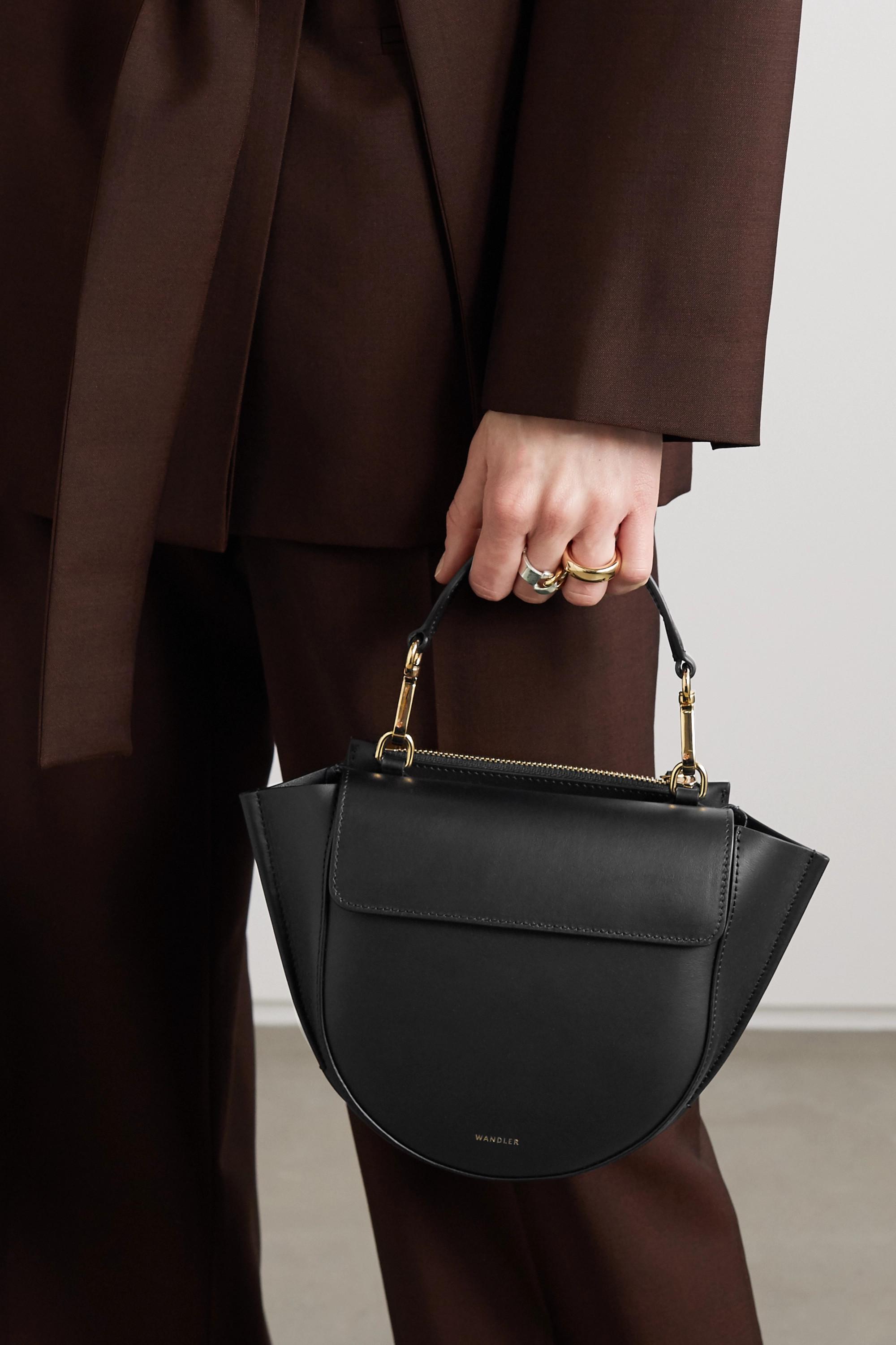 Wandler Hortensia mini Schultertasche aus Leder