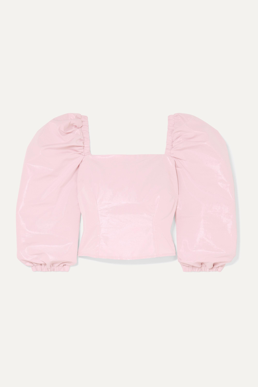 AVAVAV Metallic cotton-blend top