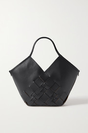 HEREU Coloma small woven leather tote