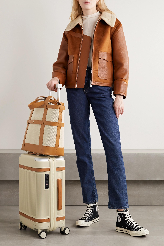 Paravel Atlantic leather-trimmed cotton-canvas tote