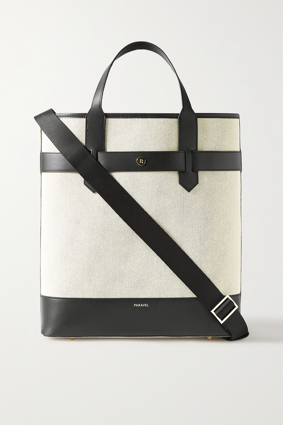 Paravel Pacific leather-trimmed canvas tote