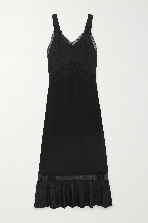 Sleeping with Jacques Osiris lace-paneled silk nightdress