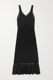 Osiris lace-paneled silk nightdress