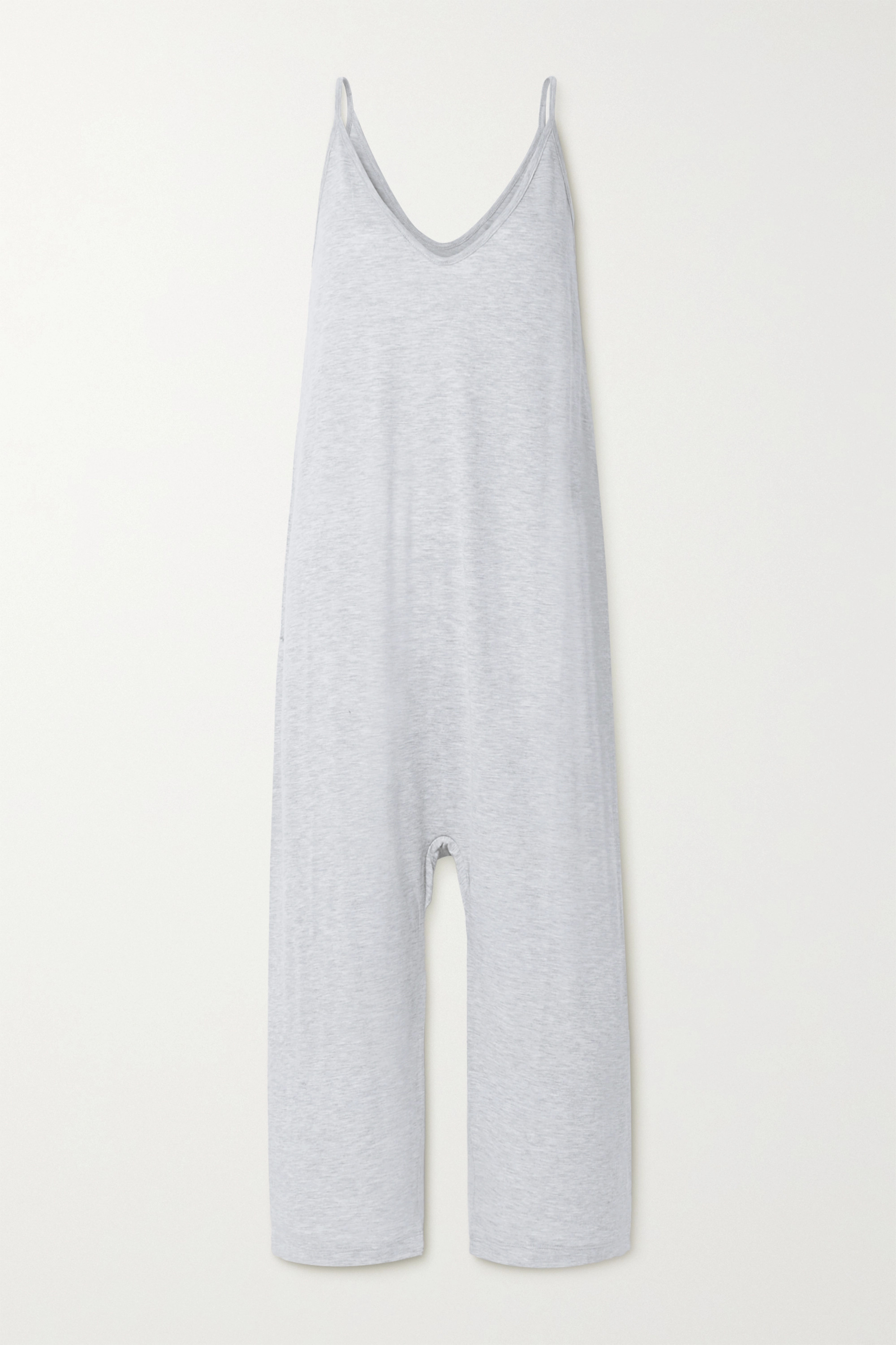 The Great The Slip Sleeper cotton-blend jersey jumpsuit