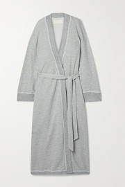 The Great The Sweatshirt belted cotton-blend jersey robe