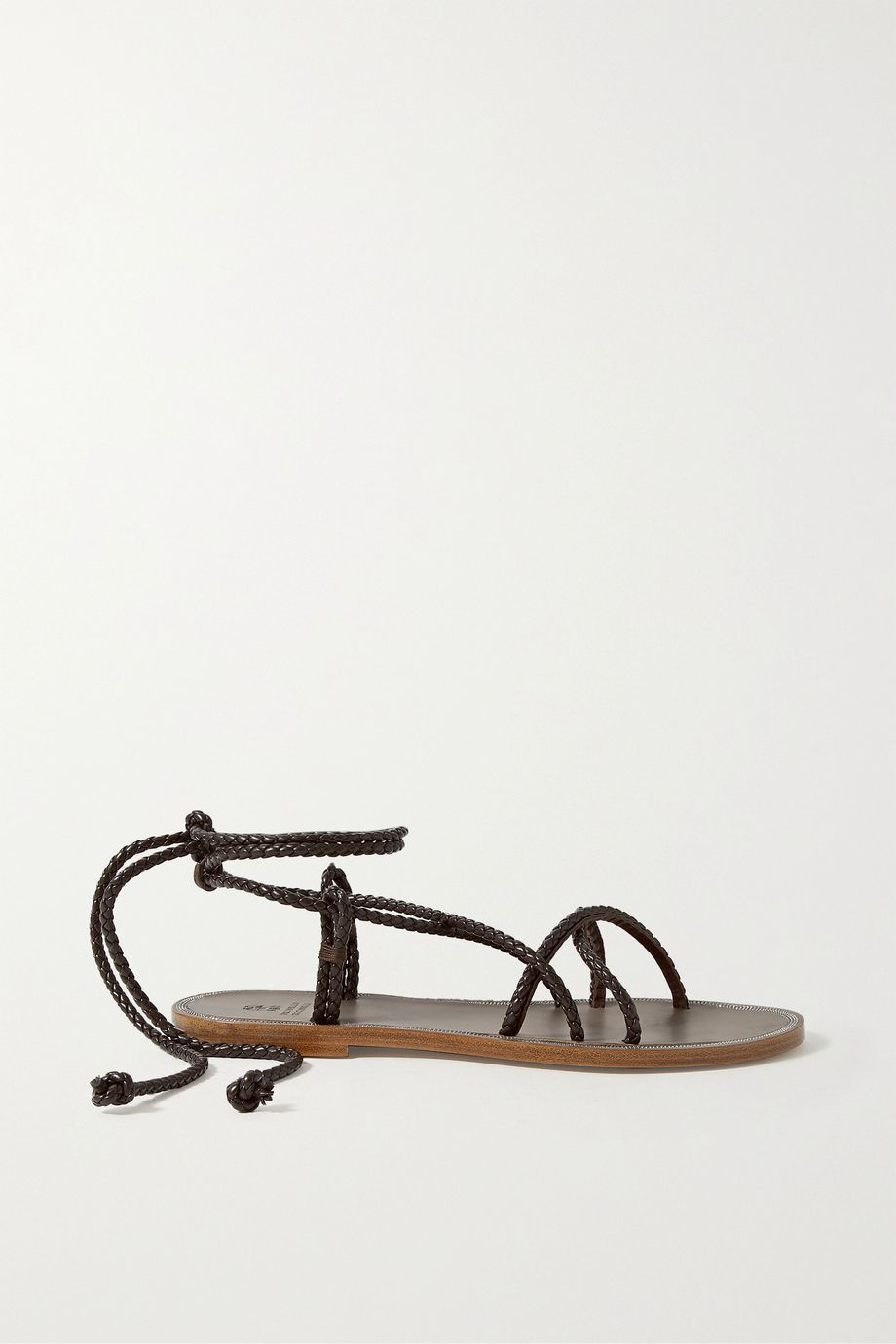 Brunello Cucinelli Beaded braided leather sandals