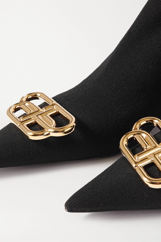 Balenciaga Knife logo-embellished stretch-knit sock boots