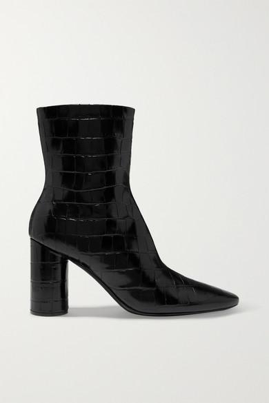 Ankle Boots Oval aus Leder