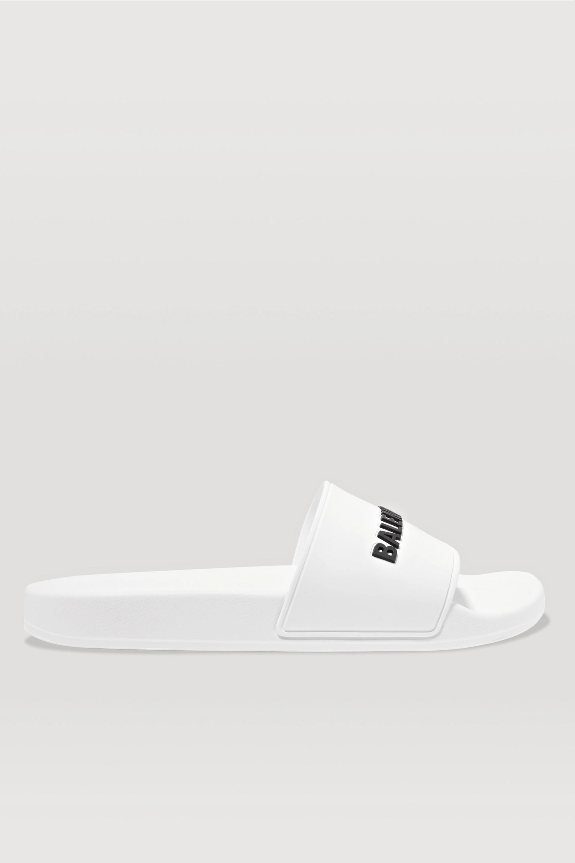 balenciaga all white slides