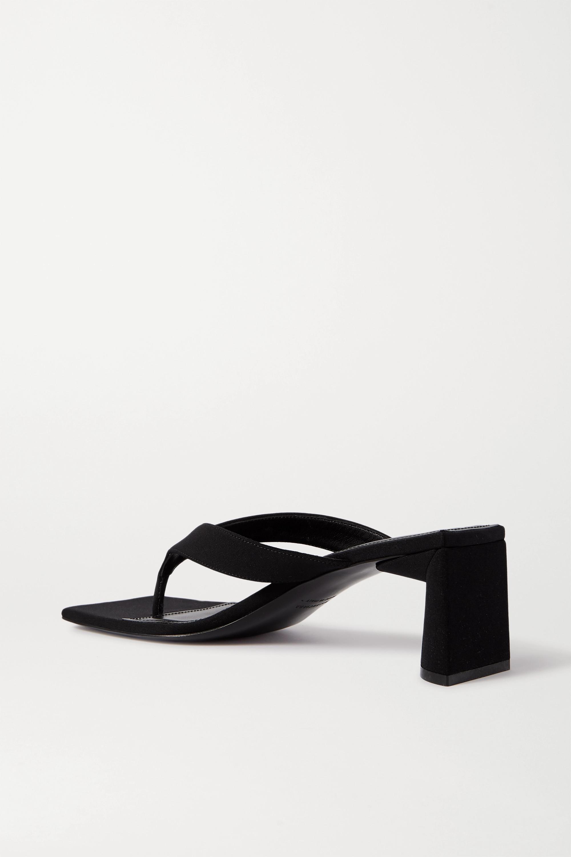 Balenciaga 品牌标志印花平纹布凉鞋