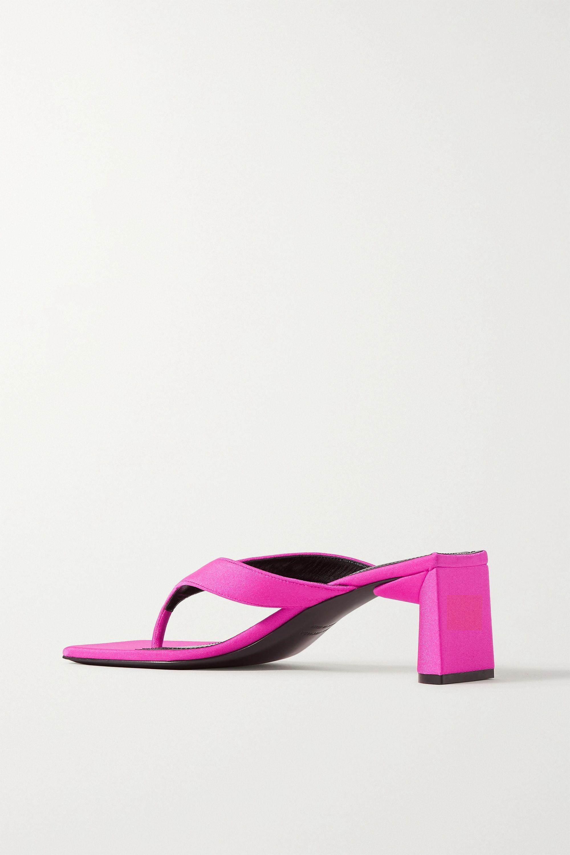Balenciaga Neon logo-printed jersey sandals